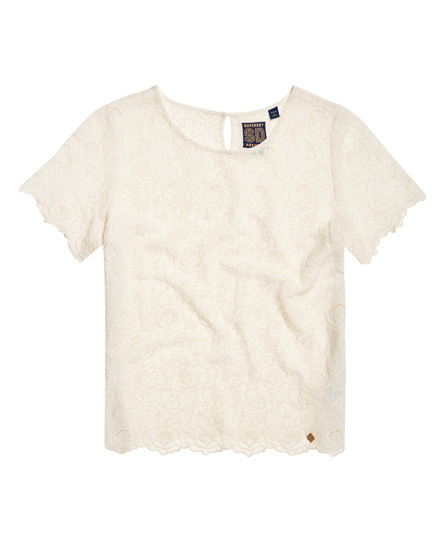 Superdry T-shirt Schiffli Lilah