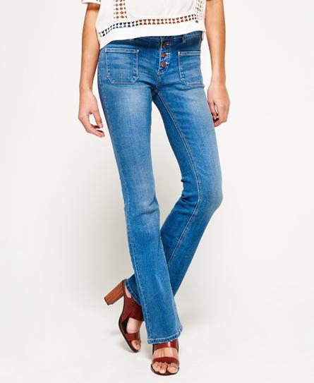 Wijd uitlopende Zadie jeans