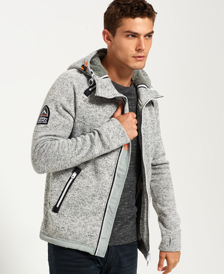 grey grit Superdry Storm Double Zip Hoodie