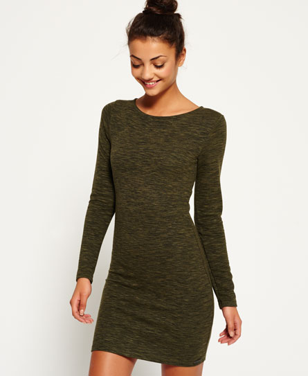 rocky khaki Superdry Augusta Bodycon-Kleid