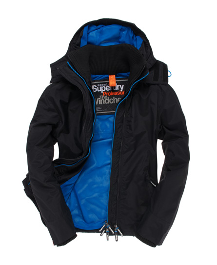 superdry hooded tech windcheater jacke herren jacken. Black Bedroom Furniture Sets. Home Design Ideas