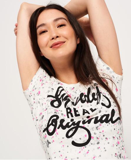 Real Original T-Shirt mit Farbspritzer-Print