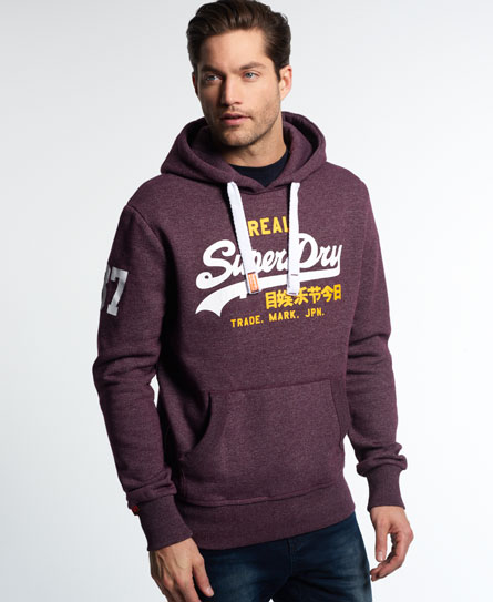 superdry vintage logo duo hoodie herren hoodies. Black Bedroom Furniture Sets. Home Design Ideas