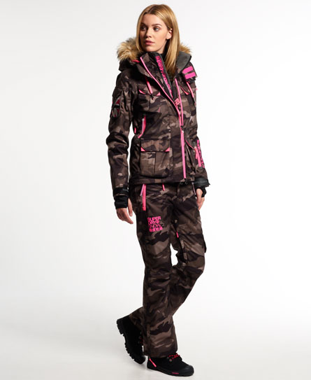 womens ultimate snow service ski jacket in camo superdry. Black Bedroom Furniture Sets. Home Design Ideas