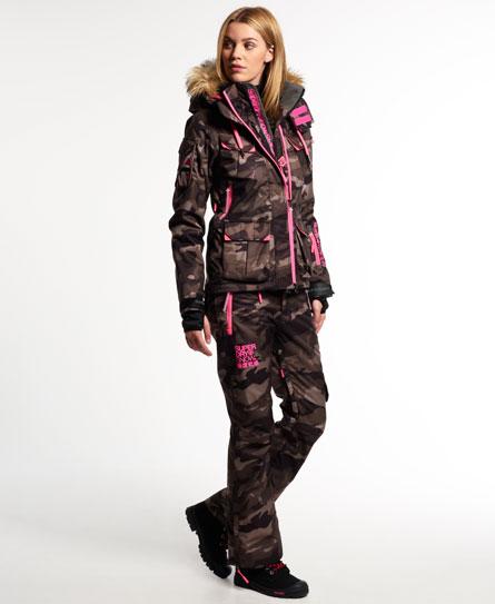 womens ultimate snow service ski jacket in camo superdry. Black Bedroom Furniture Sets. Home Design Ideas