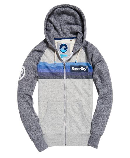 Super 77 Surf hoodie met rits en raglanmouwen
