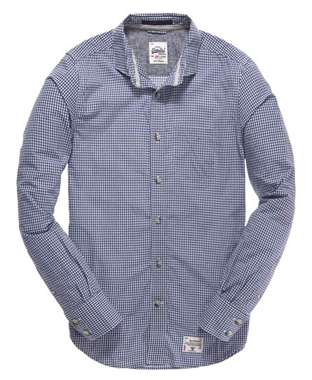Superdry Laundered Collar Shirt Blue