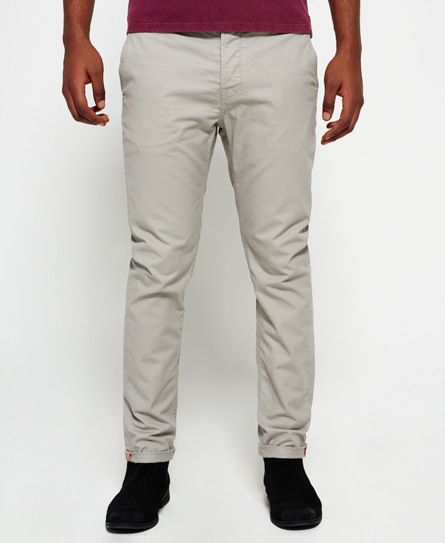 oyster grey Superdry Rookie Chino Trousers