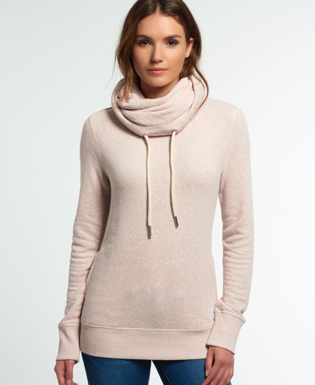 nordic pink marl Superdry Nordic Funnel Neck Top