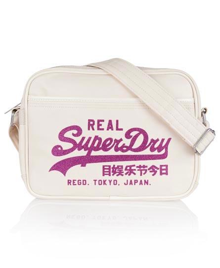 Superdry Mini Sparkle Alumni Bag Cream