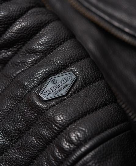 Superdry SD Endurance Super Circuit Racer Leather Jacket