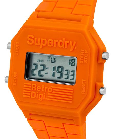 Retro Digi horloge met blokkleuren