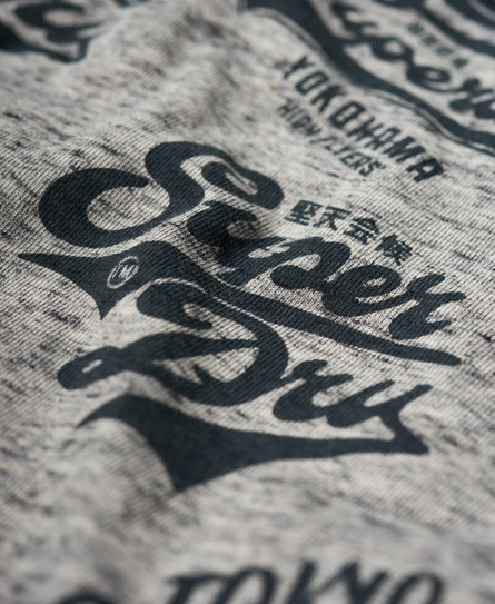 Superdry Triple Logo All Over Print Long Line T-shirt
