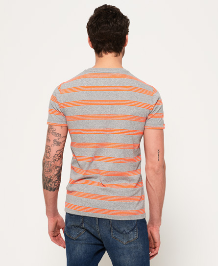 Superdry Orange Label Eddisford Stripe T-Shirt