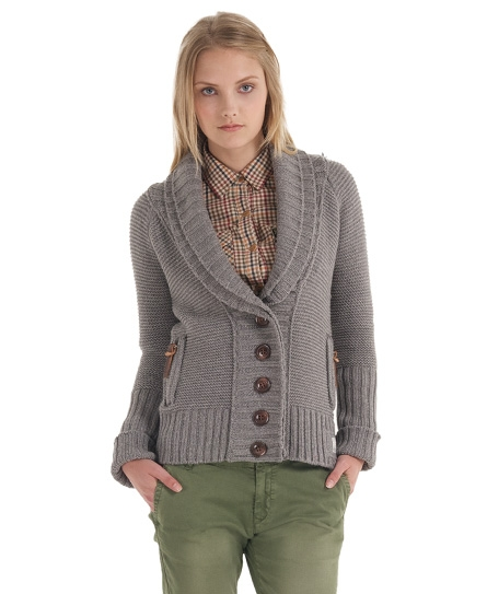 Womens - Shawls Cardigan in Heather Grey | Superdry
