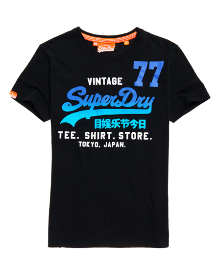negro Superdry Camiseta Shirt Shop 77