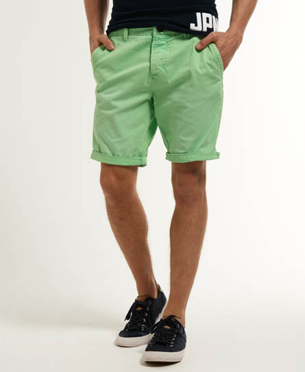 Superdry Overdye Chino Shorts Green