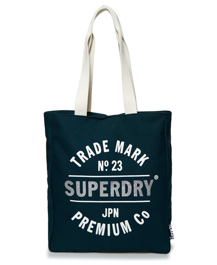 teal Superdry Athletic League Canvas Tote Bag