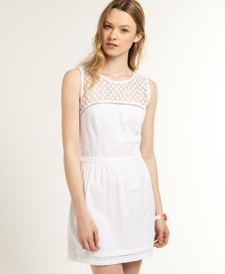 Superdry Peasant Skater Dress White