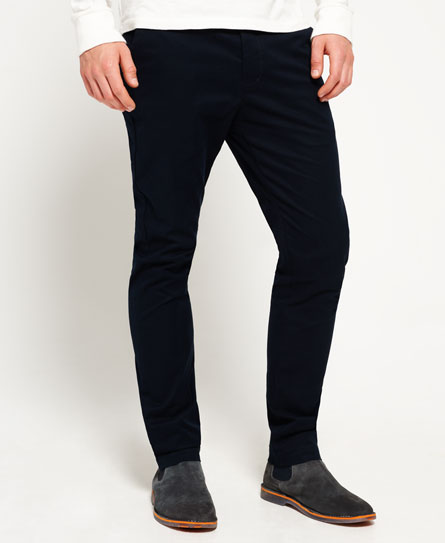 city navy Superdry Pantaloni slim fit in cotone City