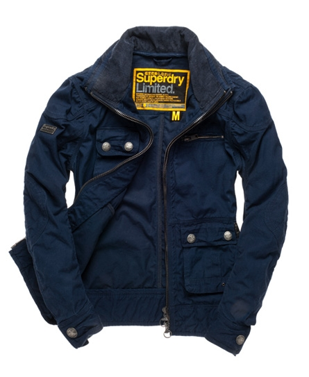 Superdry Wax Pit Jacket Navy