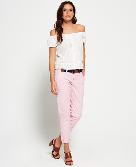 Superdry Pantalon chino Riviera Sweet Rose