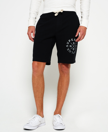 jet black Superdry Surplus Goods Sweat Shorts
