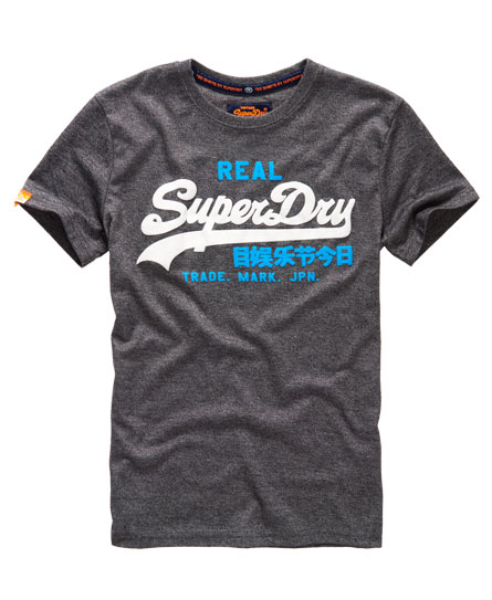 Superdry vintage logo duo t shirt herren t shirts for Old logo t shirts