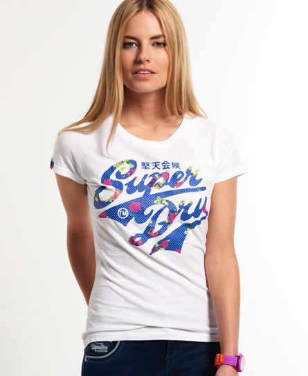 Womens Stacker T Shirt In Optic Superdry