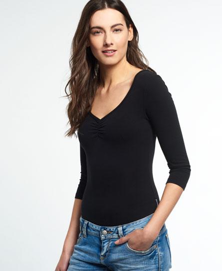 schwarz Superdry Essentials Sleeved Body