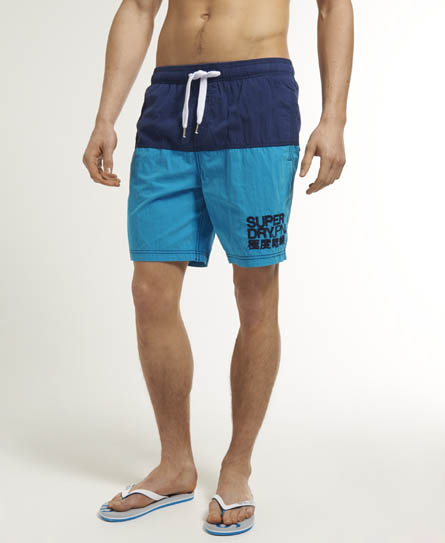 Superdry Sun Block Swim Shorts Navy