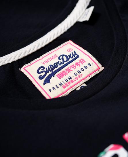 Superdry T-shirt à découpes Vintage Logo