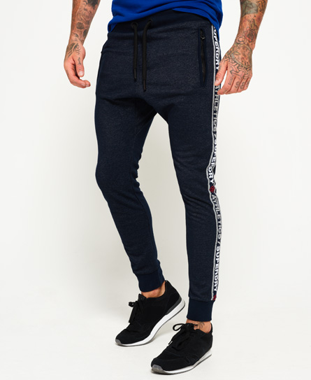 superdry stadium navy grit Superdry Stadium Joggers