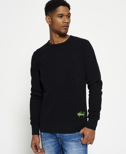 Superdry Superdry Crew sweatshirt med præget print og rund hals