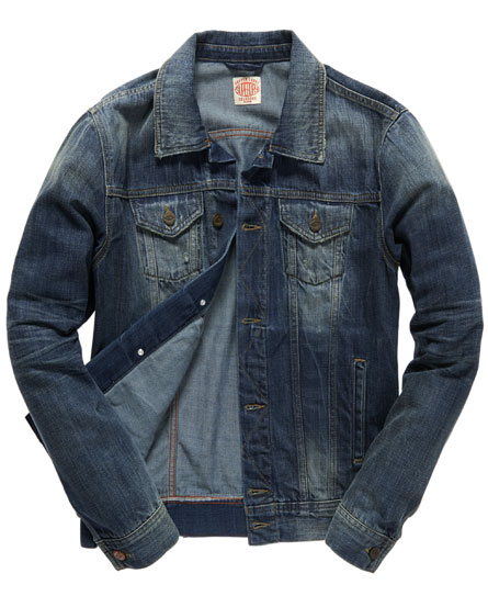 superdry veste en jean vestes pour homme. Black Bedroom Furniture Sets. Home Design Ideas