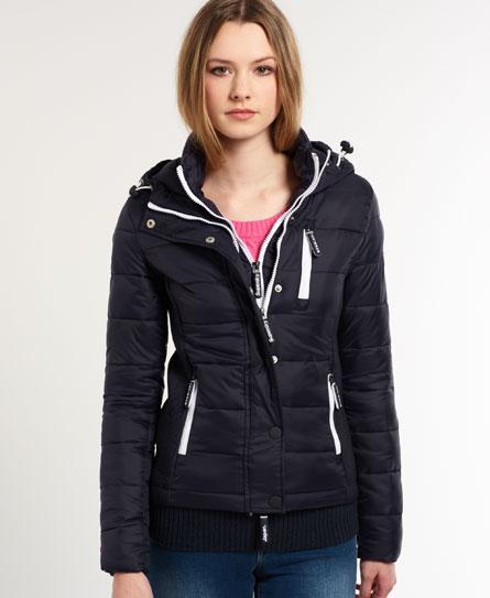 superdry fuji double zip jacket women 39 s jackets coats. Black Bedroom Furniture Sets. Home Design Ideas