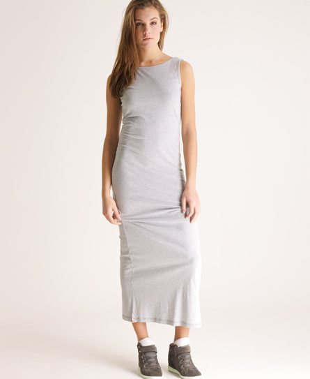 Superdry Scoop Back Maxi Dress Grey