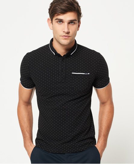 schwarz Superdry City Tipped Field Polohemd