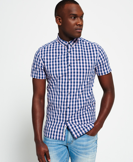 oslo pink gingham Superdry London Button Down Shirt