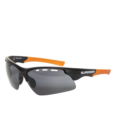 matt schwarz kräftiges orange Superdry Allwetter-Sportbrille