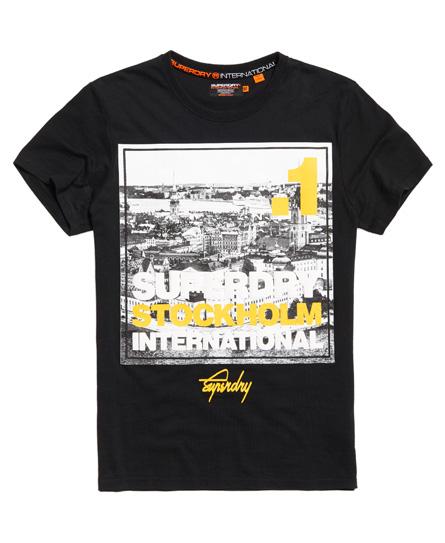 Superdry Superdry T-shirt med firkantet fotoprint af Stockholm
