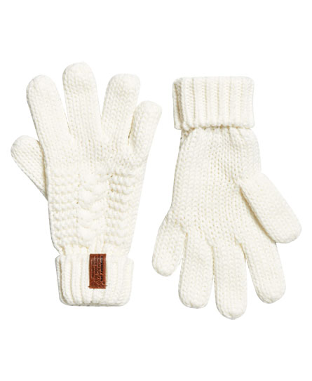 cream Superdry North Gloves