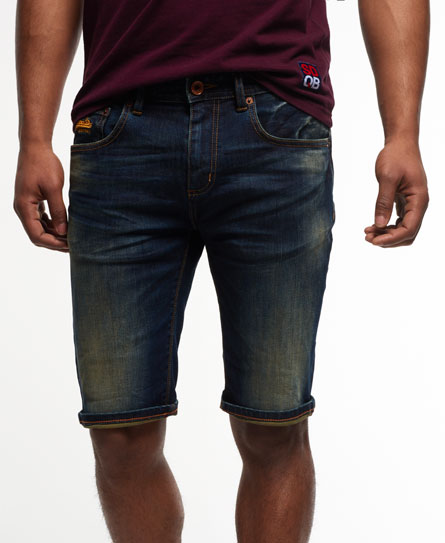Superdry Officer Denim Shorts Navy