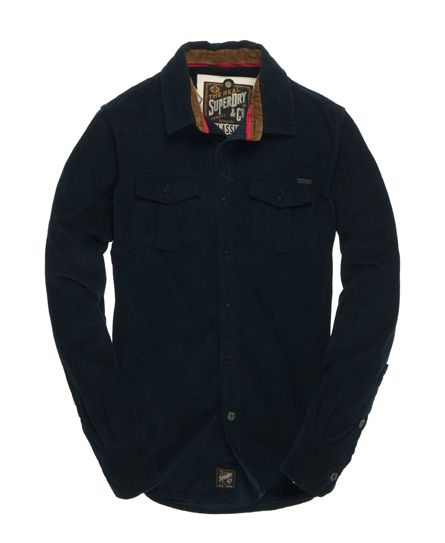 Superdry Lumberjack Wale Shirt Blue