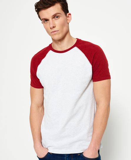 Orange Label baseball T-shirt met korte mouwen