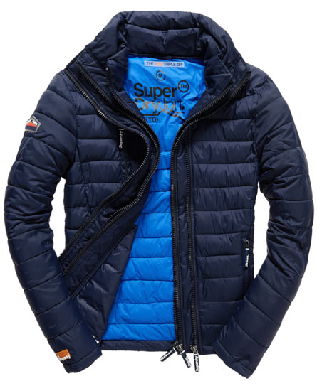 mens fuji triple zip jacket in midnight blue superdry. Black Bedroom Furniture Sets. Home Design Ideas