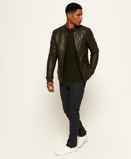 Superdry IE Iconic Leather Flight Bomber Jacket