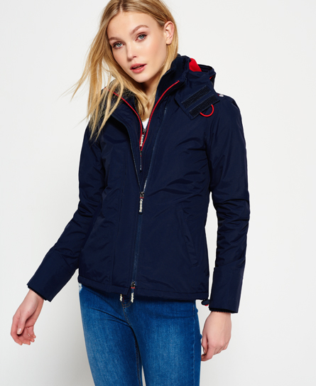 bleu marine nautique/rouge rebelle Superdry Veste à capuche Pop Zip Arctic Windcheater