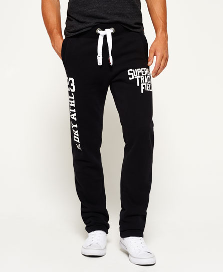 black Superdry Trackster Non Cuffed Joggers