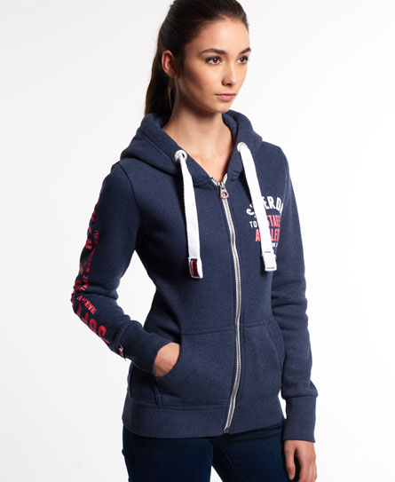 superdry track and field kapuzenjacke damen hoodies. Black Bedroom Furniture Sets. Home Design Ideas